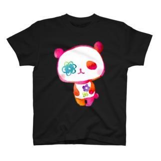 花パンダ T-shirts