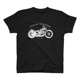 ハーレーナックルチョッパーTシャツ T-shirts