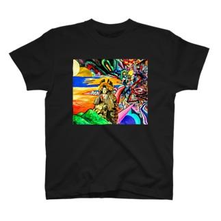 先割れの合図 T-shirts