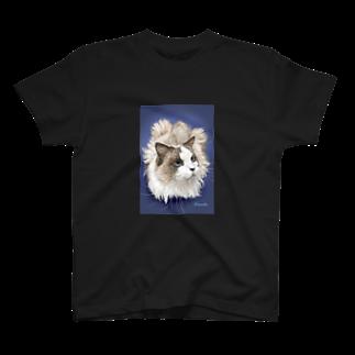 kinako-japanのラグドール みゆきちゃん T-shirts