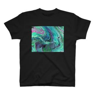 フルイドアート かいていのゆめ T-shirts