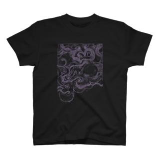 くんずほぐれつタコ T-shirts