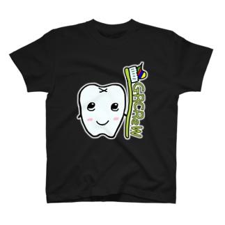 歯ブラシを持つ歯 GRCReW Tシャツ Bタイプ T-shirts