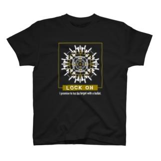 ロックオン(イエロー) T-shirts