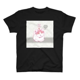 天然ガール・ピルク 香箱 T-shirts