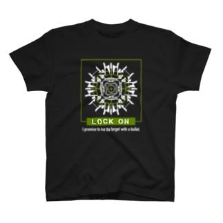 ロックオン(グリーン) T-shirts