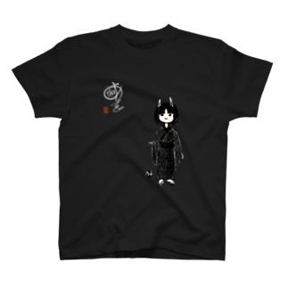 兎面の子(白字) T-shirts