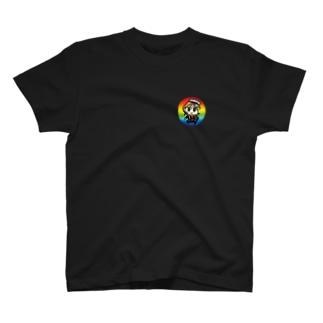 ③Happyちゃん名言Tシャツ『闇落ち4人衆編』【背面の文字カラー・ホワイト】 T-shirts