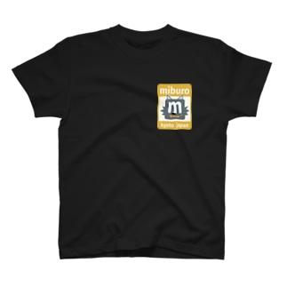 ステッカーロゴ(イエロー) T-shirts