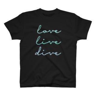 うみのいきもののlove live dive T-shirts