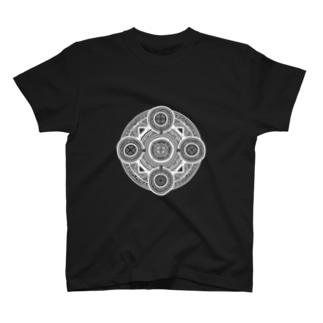 魔法陣#001白字 T-shirts