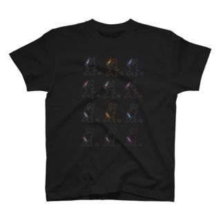 カラフルだね!殺意溢れうさぎ!(増量) T-shirts