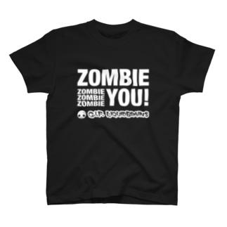 Zombie You! (white print) Tシャツ