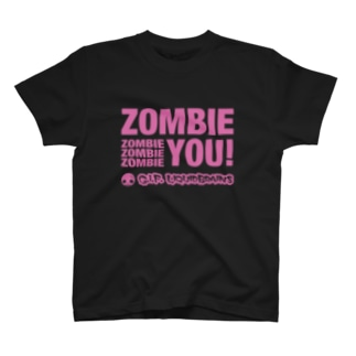 Zombie You! (pink print) T-shirts