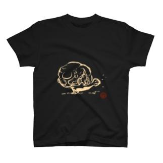 びっちょん金魚(白) T-shirts