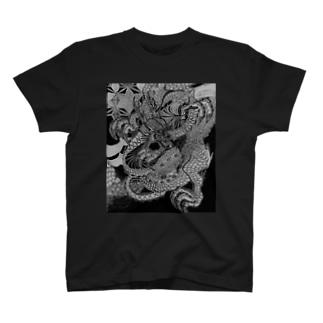 龍と氷桜 T-shirts