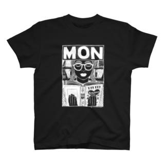 MON/BLACK T-shirts