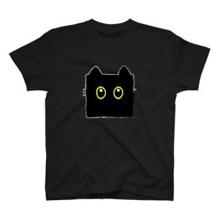 くろねこ角形(顔Ver.) T-Shirt
