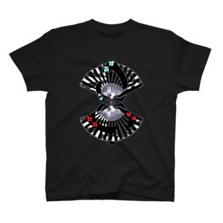 扇扇桔梗 艶 T-shirts