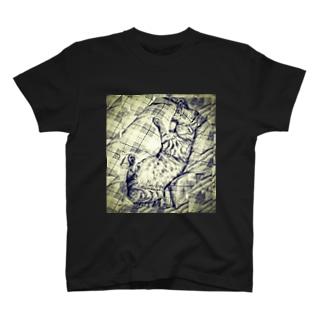 踊る虎ねこ T-shirts