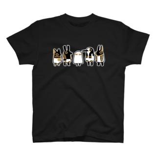 とーとつにエジプト神 5柱 Tシャツ