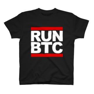 RUN BTC(黒) T-shirts