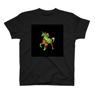 ユニコーンブラック T-shirts