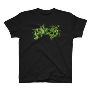 AWAODORI迷彩GREEN T-shirts