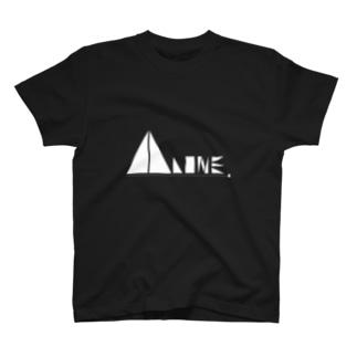 〖白〗「ALONE LOGO Tシャツ」 T-shirts