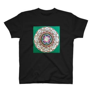 イエローパンダ スマイルのイエロー パンダ スマイル 蓮 T-shirts