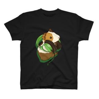 ヘッドフォンモルモットグリーン T-shirts