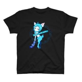 シカの嬢BLUE T-Shirt