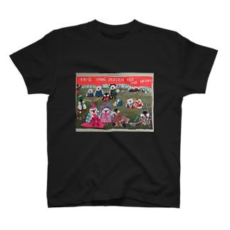 文鳥一家のファッションショー T-shirts