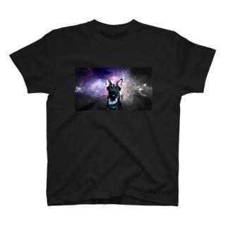 Space German shepherd-MKⅠ T-shirts