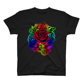 バラとにじ T-shirts