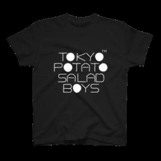 東京ポテトサラダボーイズ公式ショップの東京ポテトサラダボーイズ公式ネオクラシック(白)ロゴ T-shirts