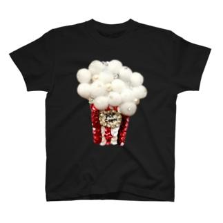 キラキラポップコーン!!レッド T-shirts