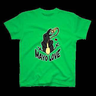 ✳︎トトフィム✳︎のカラス、マヨネーズ愛 Tシャツ