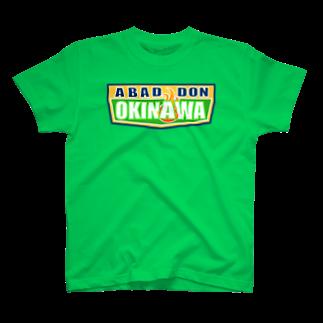 AROのABADDON OKINAWA GREEN LOGOTシャツ