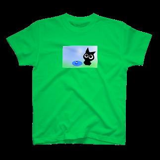魚の夢CHの〜ネコト白イノトボク〜 Tシャツ
