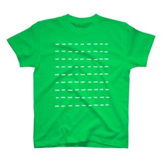 Comic Line - 3 (White) Tシャツ