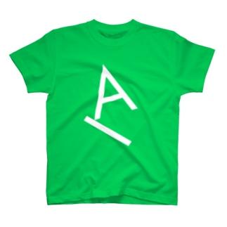 Type Gravity - A (White) Tシャツ