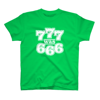 777 was 666 Tシャツ