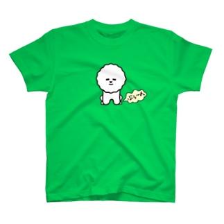 ビション・フリーゼがDBをしている T-shirts