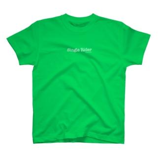SingleRider_white T-shirts