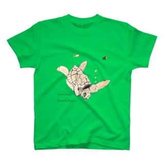 亀と魚 T-shirts