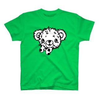 クマのブラウン-シンプル(うさぎのラビのお友達) T-shirts