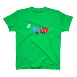 ゾウの消防車 T-shirts