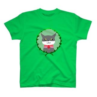 黒柴の少女 T-shirts