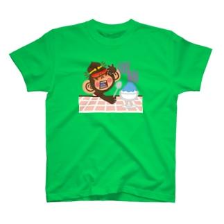 """ドングリ頭のチンパンジー""""頭痛"""" T-shirts"""